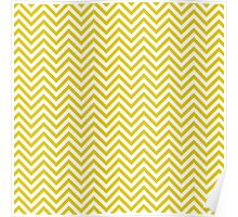 Golden Chevron Pattern Poster