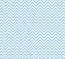 Light Blue Chevron Pattern by TilenHrovatic
