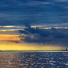 Sunset Storm at the Sodus Light by Mikell Herrick