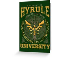 Hyrule University Greeting Card
