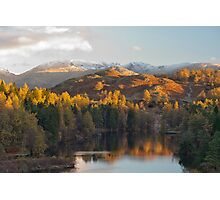 Tarn Hows in magnificent autumn light Photographic Print