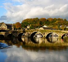 Autumn reflections on the River Barrow, Graiguenamanagh, County Kilkenny by Andrew Jones