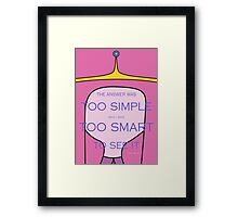 Princess Bubblegum quote Framed Print