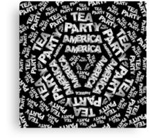 Tea Party Collage Canvas Print
