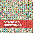 Season's greetings geometric by drunkonwater
