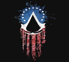 Assassin's Creed Red/Blu/White Flag by Grace7