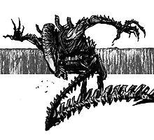 Striking Black Predator by Lou500