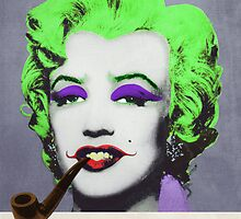 Joker Marilyn with surreal pipe by filippobassano