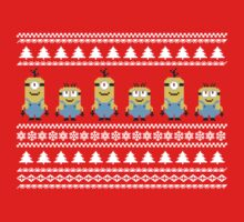 Christmas Minions Pattern by Leopard