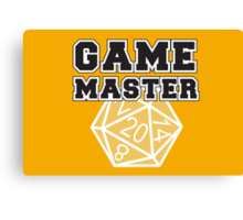 Game Master t-shirt Canvas Print