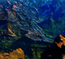 Waimea Canyon 21 Abstract Impressionism by pjwuebker