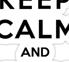 Keep Calm And Give Me Coffee Sticker