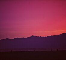 Santa Monica Beach Sunset by enlightenedscrp