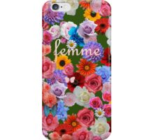 femme flowers iPhone Case/Skin