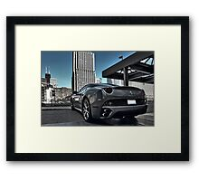 Ferrari California Chicago Framed Print