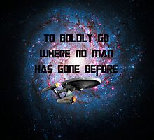 To Boldly Go Where No Man Has Gone Before by emilymariee8