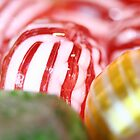Macro of Stiped Hard Candy by taiche