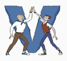 Hand and Dean V Sign Team THE VENTURE BROS by samshepherd509