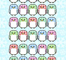 Gingham Penguins by Margybear