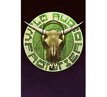 Wild Audio Frontier Headphone MP3 Cattle Skull Graphic Photographic Print
