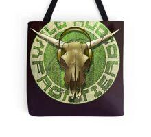 Wild Audio Frontier Headphone MP3 Cattle Skull Graphic Tote Bag