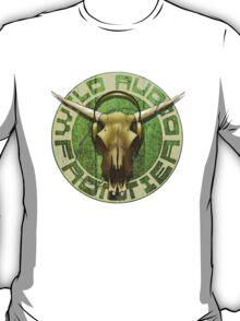 Wild Audio Frontier Headphone MP3 Cattle Skull Graphic T-Shirt