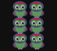 Colorful Owls .. tee shirt by LoneAngel