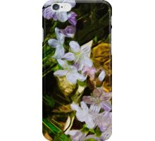 Spring Beauty a Wildflower Abstract Impressionism iPhone Case/Skin