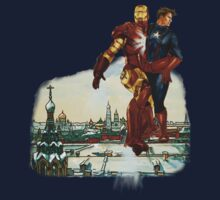 Iron Man & Captain America in Moscow by Amberdreams