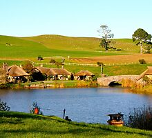 View of the Green Dragon - Hobbiton, New Zealand by Nicola Barnard