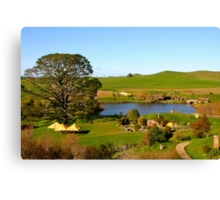 View from Bag End - Hobbiton, New Zealand Canvas Print