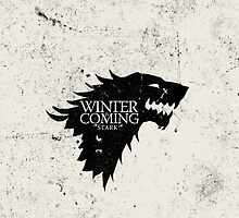 Game Of Thrones:House Stark iPhone Case by Elkins