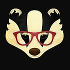 Hipster Badger by Compassion Collective