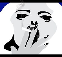 Smoking Woman by ARTSHOP