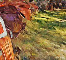 Rusty Old Cars and Trucks 3 Abstract Impressionism by pjwuebker