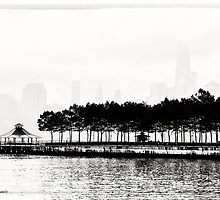 Hoboken Pier In Black & White by Jessica Manelis