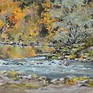 Fall on the River  by Karen Ilari