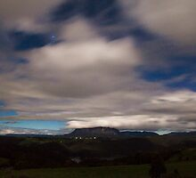 Mt Roland by Moonlight by Kelly Slater
