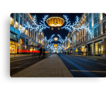 Regent Street Christmas Lights Canvas Print
