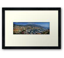 Monte Carlo Panorama Framed Print