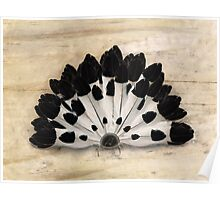 Yin Yang Magpie Feather Fan Poster