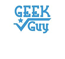 Geek Guy cute nerdy geek design for men Photographic Print
