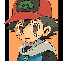 ash portrait (plain) by shinypikachu