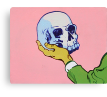 Man Holding Skull Canvas Print