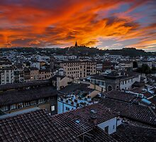 Fire Over Firenze (Florence) by mhfore