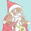 CUTE CHRISTMAS MICE AND SANTA by Jane Newland