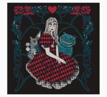 Spooky Alice in wonderland sticker by EdWoody