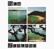 New Zealand - Whale Bay - Tee by haewee