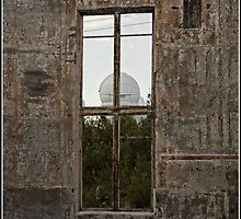 A Burnt Out Window of the Mt Stromlo Observatory in Canberra by Wolf Sverak
