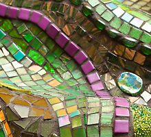 EMERALD detail by Julee Latimer Mosaics